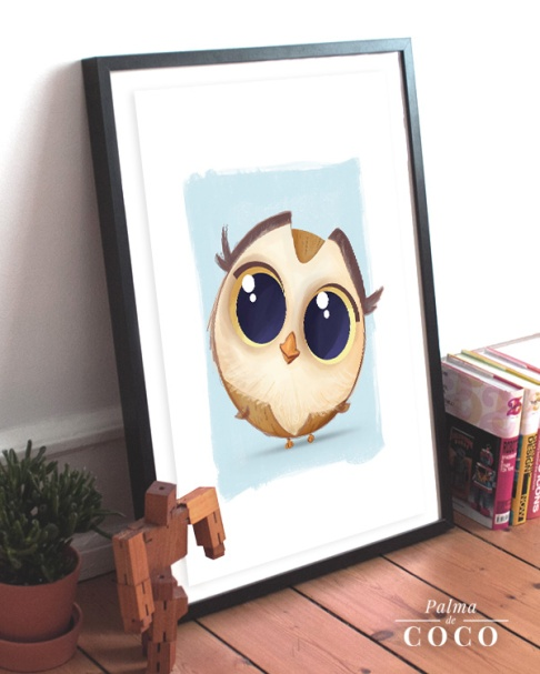Owl Palma de coco